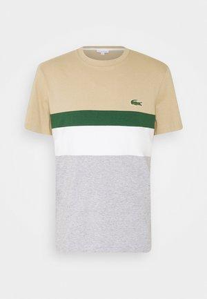 Print T-shirt - argent chine/farine/vert/viennois