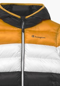 Champion - COLOR BLOCK UNISEX - Winter jacket - black/white/yellow - 2