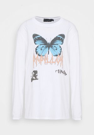 PAPILLON METAL TEE - Long sleeved top - white