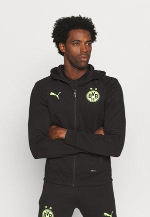 BVB BORUSSIA DORTMUND CASUALS HOODED JACKET W/O SPONSOR - Klubbklær - black/safety yellow