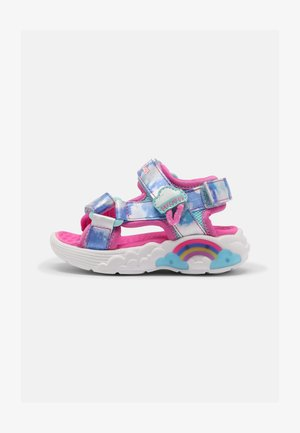 RAINBOW RACER - Sandals - pink/light blue