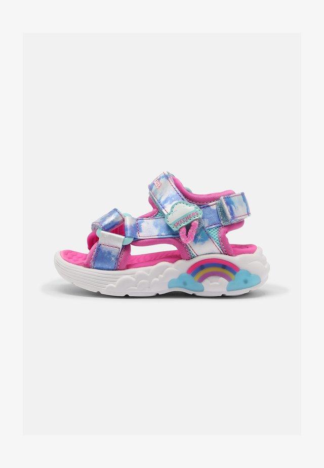 RAINBOW RACER - Sandals - pink/light blue