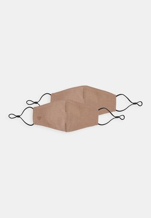 HAERI 2 PACK - Stoffmaske - medium nude