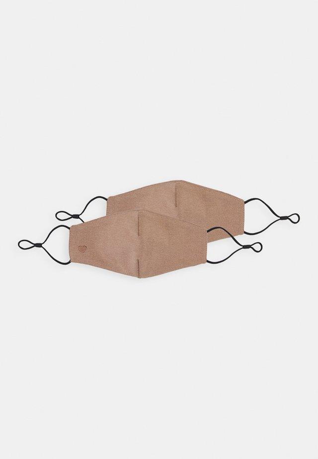 HAERI 2 PACK - Munnbind i tøy - medium nude