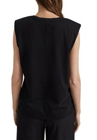 Esprit Collection - PADDED TEE - Basic T-shirt - black - 8