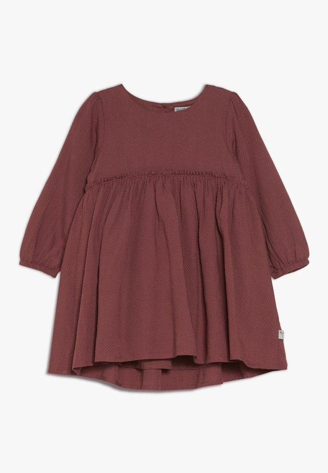 DRESS MAGDA BABY - Juhlamekko - dark rouge