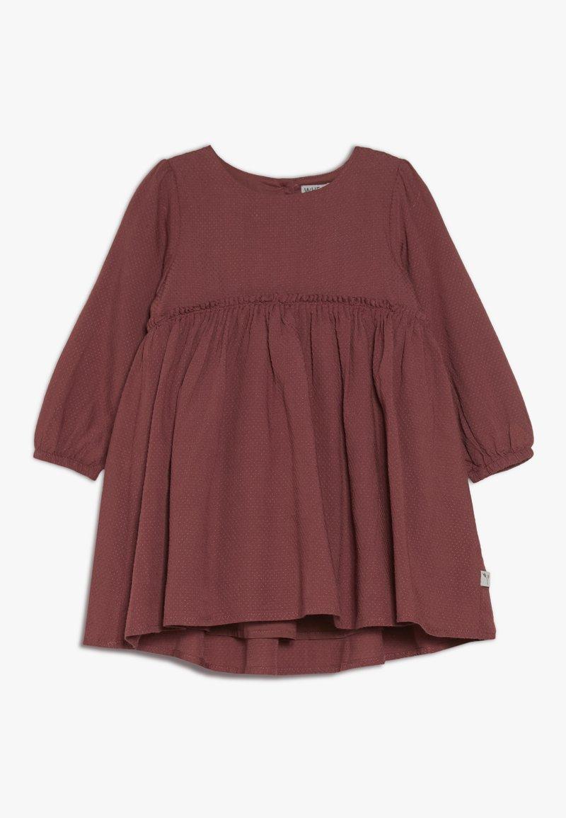 Wheat - DRESS MAGDA BABY - Juhlamekko - dark rouge