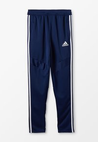 adidas Performance - TIRO AEROREADY CLIMACOOL FOOTBALL PANTS - Pantalones deportivos - dark blue/white - 0
