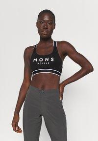 Mons Royale - STELLA X BACK BRA - Sportovní podprsenky s lehkou oporou - black - 0