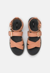 ONLY SHOES - ONLMALU CHUNKY WRAP - Platform sandals - pink - 5