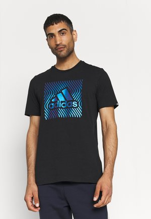 T-shirt con stampa - black/bold blue