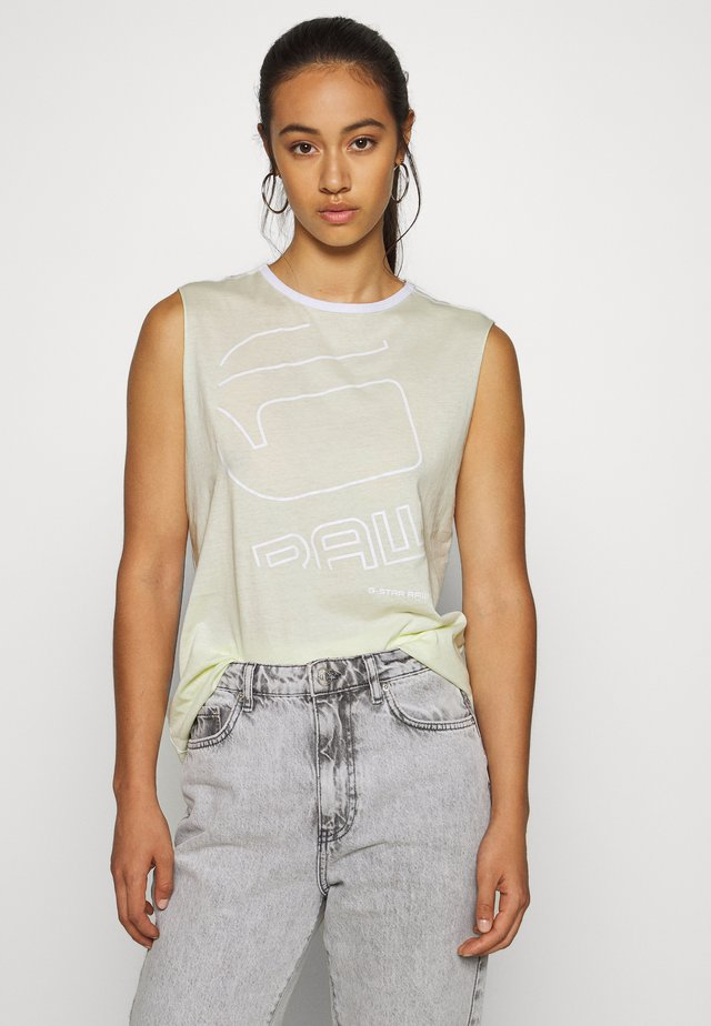GRAW OUTLINE - Top - lumi green