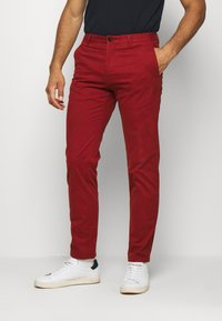 Tommy Hilfiger Tailored - FLEX SLIM FIT PANT - Trousers - red - 0