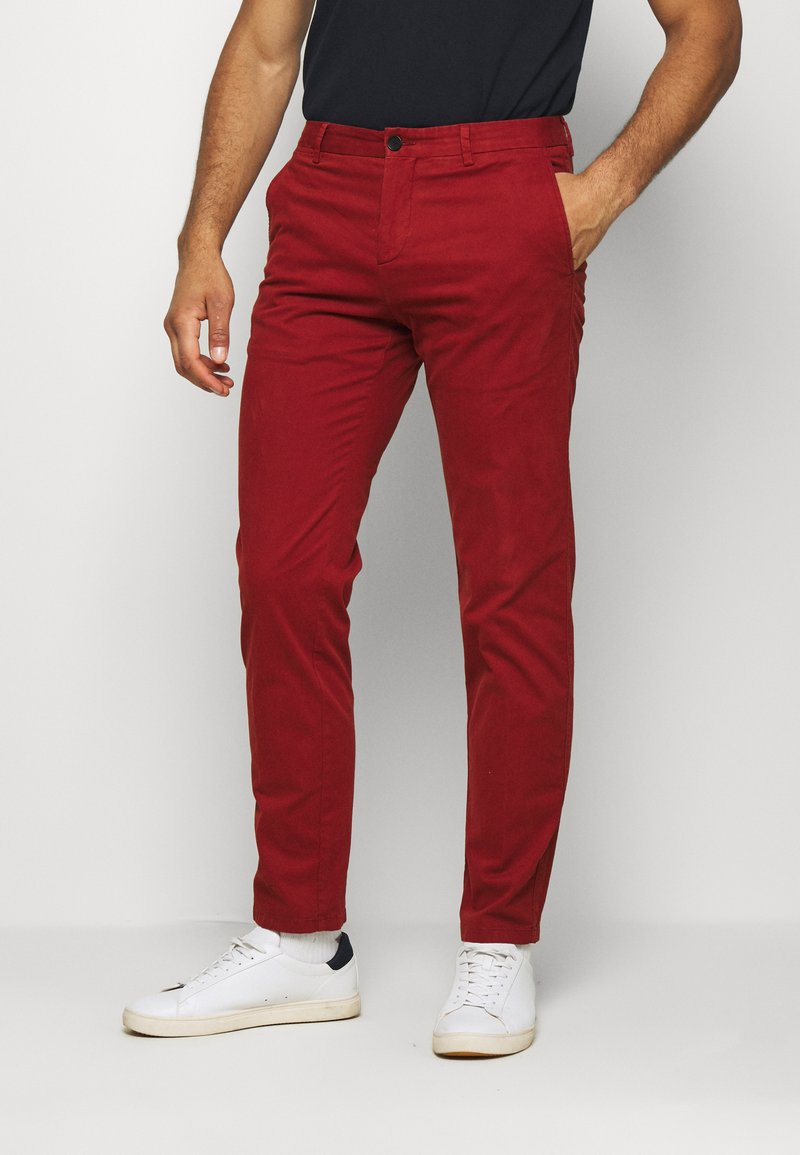 Tommy Hilfiger Tailored - FLEX SLIM FIT PANT - Trousers - red