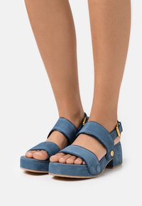 See by Chloé - GALY - Platform sandals - blue - 0