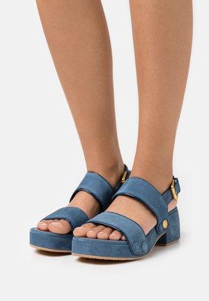 GALY - Sandály na platformě - blue