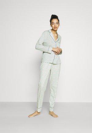 MASCULINE OPTIMISTE LONG BOUQUET PJ SET - Pyjama - mint green
