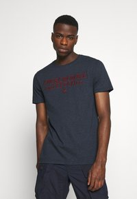 Abercrombie & Fitch - HERITAGE FALL - Print T-shirt - navy - 0