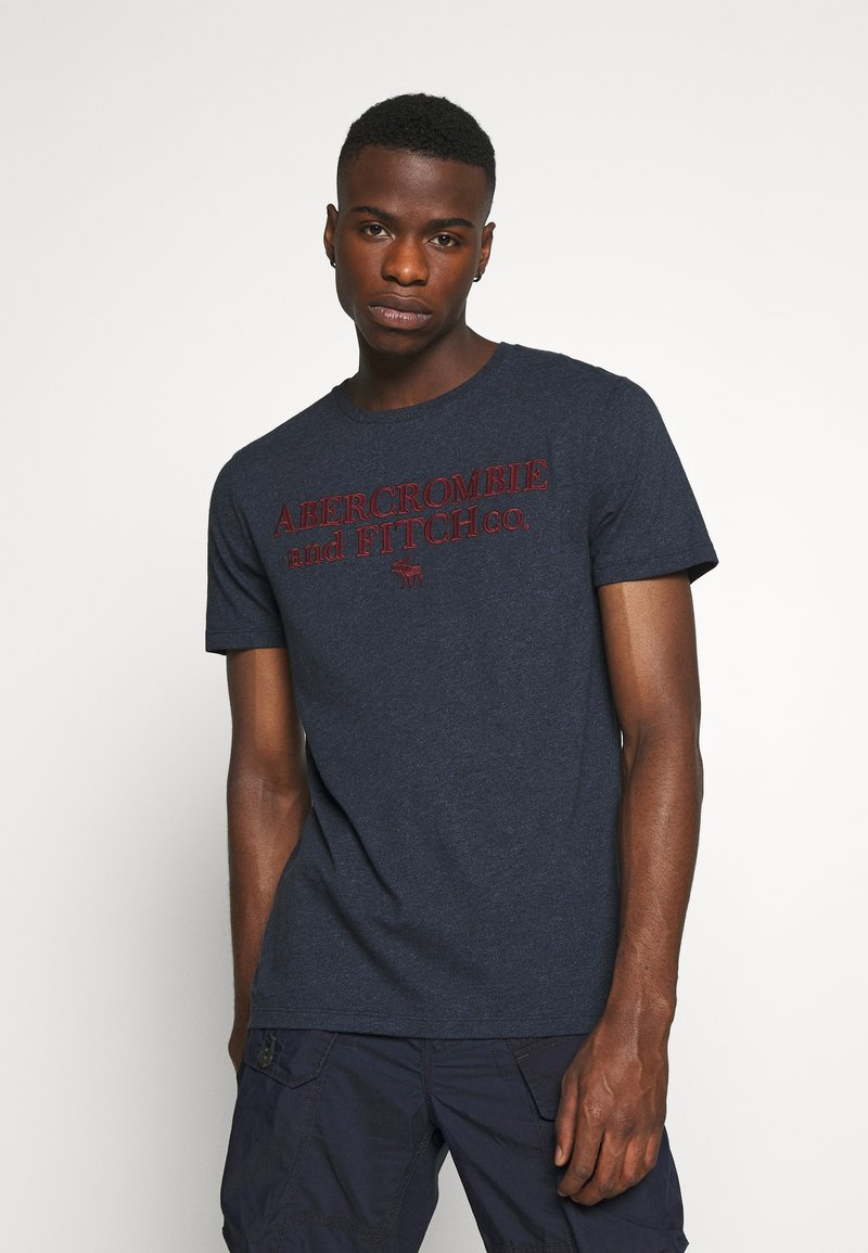 Abercrombie & Fitch - HERITAGE FALL - Print T-shirt - navy