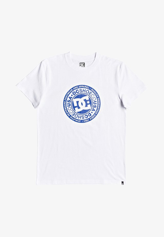 CIRCLE STAR  - Print T-shirt - snow white/nautical blue
