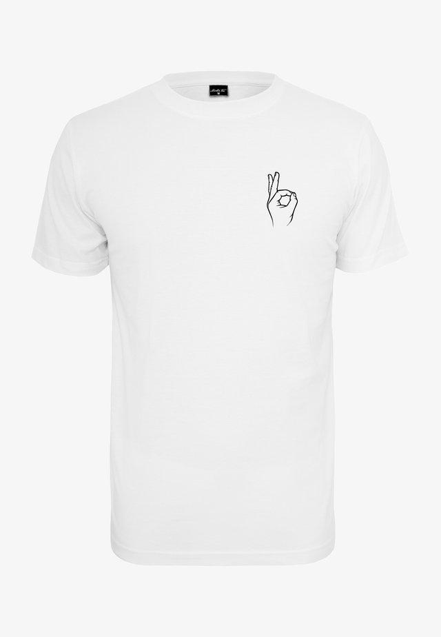 EASY TEE - Print T-shirt - white