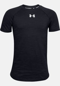 Under Armour - UA CHARGED COTTON SS - Basic T-shirt - black - 0