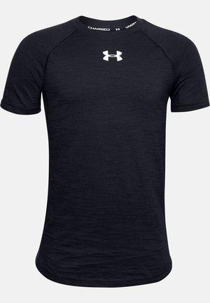 UA CHARGED COTTON SS - Basic T-shirt - black