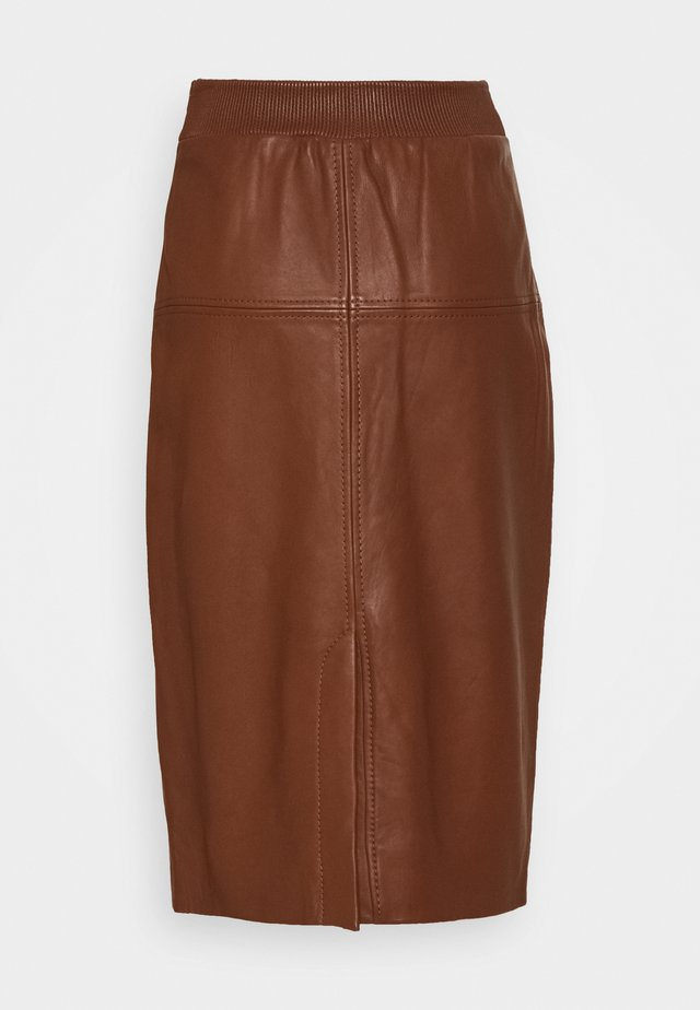 Pencil skirt - tortoise shell
