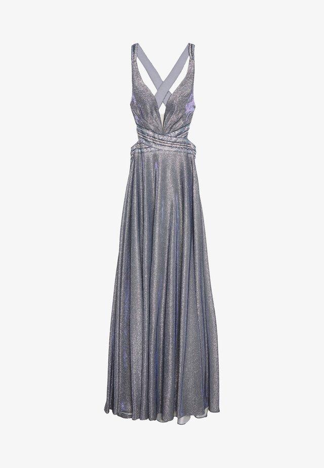 Festklänning - graublau