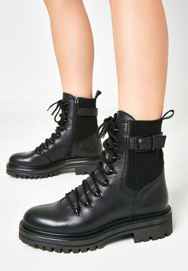 Platform ankle boots - blackblk