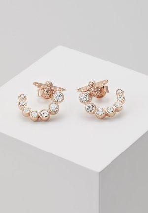 BEJEWELLED BEE SWIRL HOOP EARRINGS - Boucles d'oreilles - roségold-coloured
