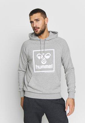 HMLISAM HOODIE - Jersey con capucha - grey melange