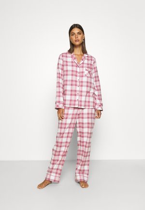 COSY CHECK SET - Pyjama - blush/mink/ivory