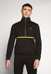 Criminal Damage - WISE PANEL - Sudadera - black/yellow - 0