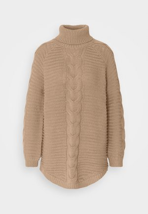 PCDIGA ROLL NECK LONG - Neule - taupe gray