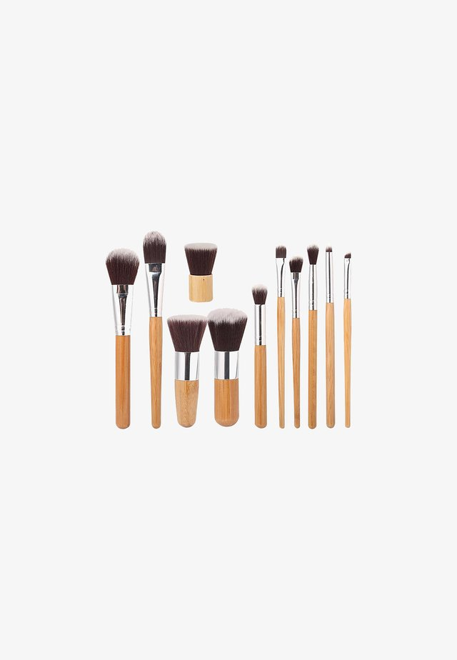 11 PIECE BAMBOO ECO MAKE-UP BRUSH SET - Pennelli trucco - bamboo