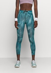 Nike Performance - RUN 7/8 - Leggings - dark teal green/silver - 0
