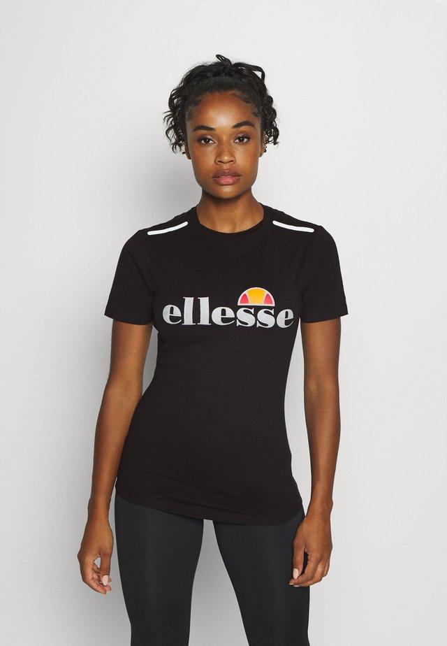 DELLE - Print T-shirt - black