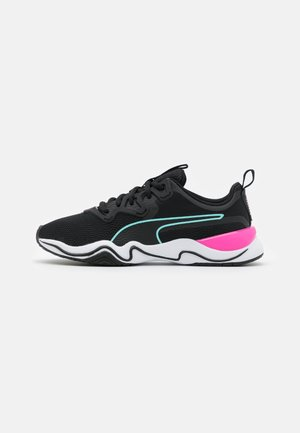 ZONE XT - Sports shoes - black/white/luminous pink/aruba blue