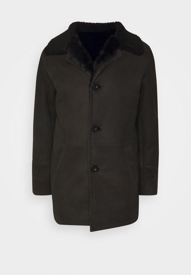BURGALESE  - Leren jas - suede black