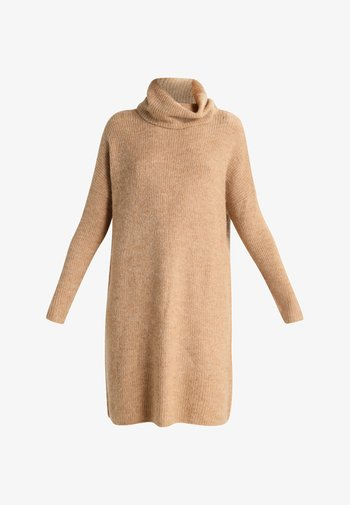 ONLJANA L/S COWLNECK  - Jumper dress - indian tan