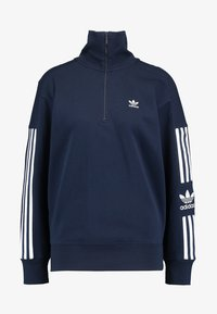 adidas Originals - ADICOLOR HALF-ZIP PULLOVER - Sweatshirt - collegiate navy