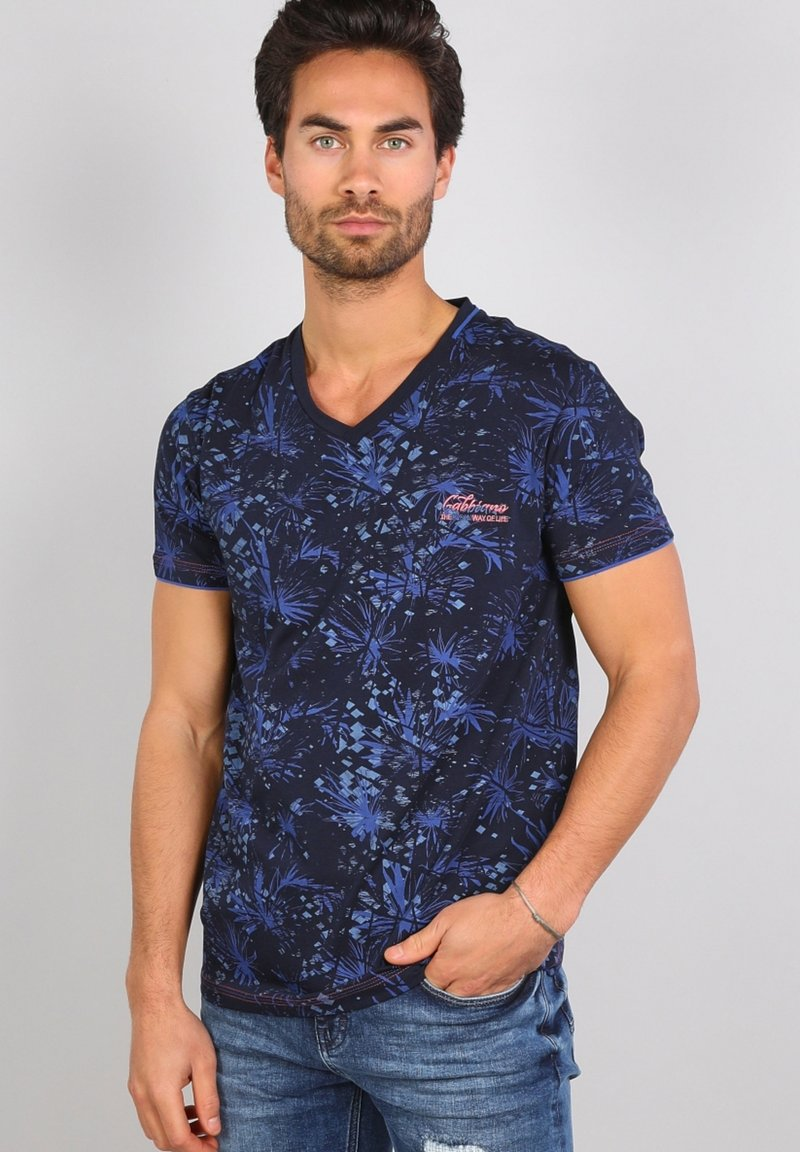 Gabbiano - Print T-shirt - navy