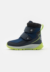 Jack Wolfskin - POLAR BEAR TEXAPORE MID UNISEX - Winter boots - blue/lime - 0