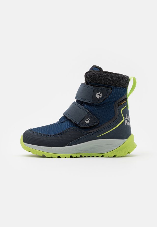POLAR BEAR TEXAPORE MID UNISEX - Winter boots - blue/lime