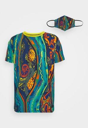 MULTIPACK SET - Print T-shirt - petrol