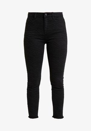 ZEBRA PRINT - Jeans Skinny Fit - black