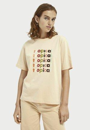 Print T-shirt - soft peach
