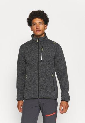 MAN JACKET - Fleece jacket - grey/antracite