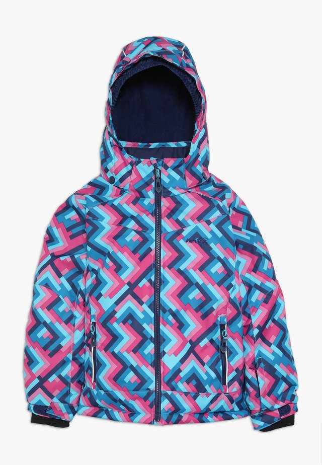 TESSIE GRID - Veste d'hiver - turquoise/neon pink